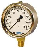 Type 213.40 Brass Case Pressure Gauges