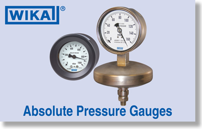 WIKA Absolute Pressure Gauges