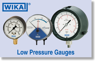 WIKA Low Pressure Gauges