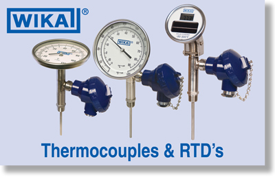 WIKA Thermocouples and RTD's