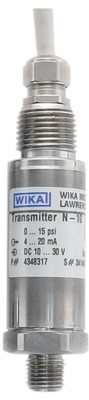 WIKA N10 Non Incendive Pressure Transmitter - 30 in.- 0-100 PSI - 4-20 mA - 2 Wire