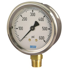 Wika Type 213 53 Pressure Gauge 0 600 Psi 2 1 2 Quot 1