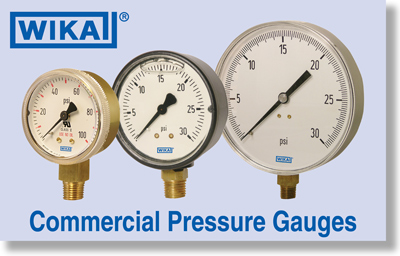 Wika Commercial Pressure Gauges