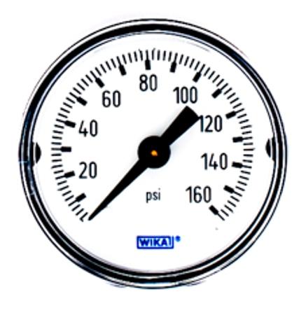 WIKA Type 111 12 Pressure Gauge - 0-160 psi/bar - 1-1/2