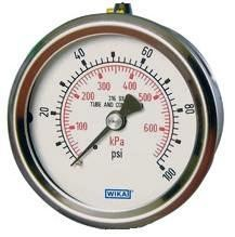 "WIKA Type 233.54 Pressure Gauge - 0-300 PSI - 2-1/2"" - 1/4"" NPT Center Back Mount - 9832160"