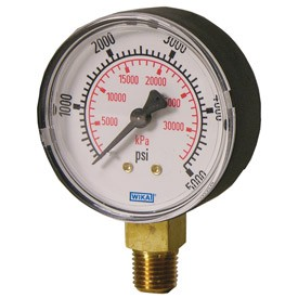 "WIKA Type 111.10 Pressure Gauge - 0 - 2000 psi - 2 1/2"" (63 mm) Diameter - 1/4"" NPT - 8990675"