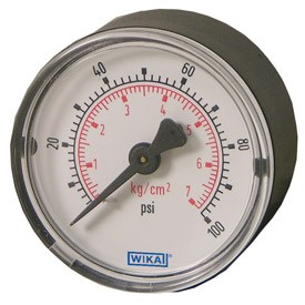 "WIKA Type 111.12 Pressure Gauge - 0-300 PSI/KGCM2 - 2.0"" (50 mm) Diameter - 1/8"" NPT CBM - 9692856"