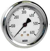 "WIKA Type 212.53 Pressure Gauge - 0 - 160 psi - 2 1/2"" - 1/4"" NPT Back Mount - 4270861"